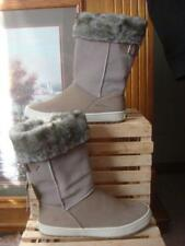 NWT ~ HELLY HANSEN TAUPE WATERPROOF NUBUCK LEATHER & SUEDE FUR CUFF BOOTS ~ 7.5/