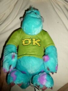 """Monsters University Sully Talking My Scare Pal 12"""" Plush Toy Disney TESTED WORKS"""