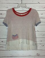 MOTH Anthropologie Women's XS Extra Small Short Sleeve Cute Fall Sweater Top