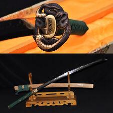 Clay Tempered Katana FULL TANG 1095 STEEL BLADE Japanese Samurai Handmade Sword