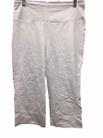 Women with Control Women's Regular Tummy Control Crop Pants White Large Size