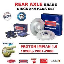 Für Proton Impian 1.6 102bhp 2001-2008 Hinterachse Bremsscheiben 260mm Solid +