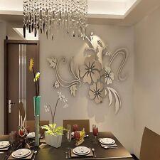 3D Spiegel Wandtattoo Vintage Wanddekoration Wandsticker Set Dekoration Deko
