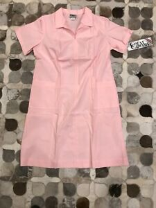Vintage 80's Sz. 20.5 Fitted Nurse Uniform/Scrubs Dress, Pink.