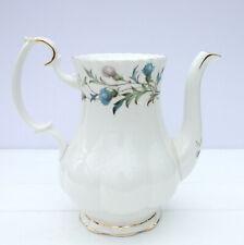 Vintage Royal Albert Brigadoon Bone China Scottish Thistle Large Coffee Pot
