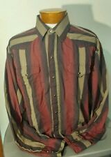 Panhandle Slim Mens Long Sleeve Pearl Snap Western Shirt 18-37 Vintage Striped