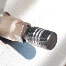 Set of 4 Gun Metal Anti-slip Rubber Ring Seal Aluminum Universal Tire Valve Cap