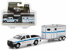 GREENLIGHT 1:64 HITCH & TOW 2017 RAM 2500 & HORSE TRAILER CHICAGO POLICE 32110-D