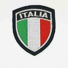 Stemma ricamato Patch scudetto Italia bordo argento - Termoadesivo