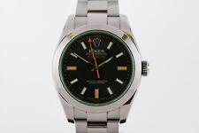 Rolex Milgauss Green Sapphire Crystal Automatic Watch 116400GV 116400