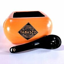 Tabasco Hot Sauce Salsa Bowl Serving Dish Spoon Fiesta Party Picnic BBQ Platter