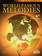 """""""WORLD FAMOUS MELODIES"""" FOR ALTO SAX MUSIC BOOK/CD-SAXOPHONE-BRAND NEW ON SALE!!"""