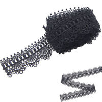 3 Yards Polyester Black Lace Trim Applique Costume DIY Sewing Craft NEW