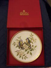 SPODE COLLECTORS PLATE GARDEN BIRDS No.1 BLUE TITMOUSE..MINT COND. + BOX