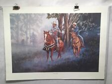 """Vintage Western Wayne Hovis Print """"Double Trouble"""" Signed Numbered 10/500"""