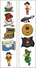 Premium Pirate Temporary Tattoos, Kids Party Favors
