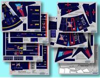 "Accur8 ""Union Indigo Chameleon Skin"" Kit for Estes Interceptor E Model Rocket"