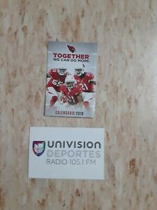 2018 Arizona Cardinals (National Football League) Univision Spanish schedule