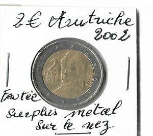 2 Euro AUTRICHE 2002 Très Rare  Fauté