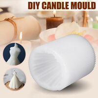 DIY Candle Silicone Mold Wedding Dress Handmade Craft Candle Making Mould Gift