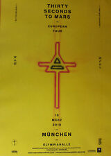 Thirty Seconds to Mars - Tourposter/Tourplakat 2018 - Olympiahalle München