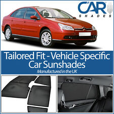 Citroen C5 5dr 01-08 UV CAR SHADES WINDOW SUN BLINDS PRIVACY GLASS TINT BLACK