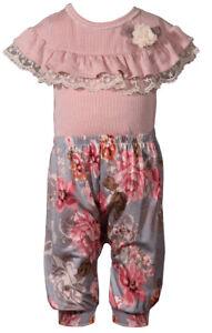 Bonnie Jean Fun Pink Ruffle Harem Set, Infant 12M, 18M, 24M