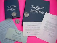 Complete Set 36 Pewter DAR Medals With COA. Great Women of American Revolution