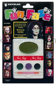 Kryolan Fun Faze Character Makeup Kits Fun Washable Makeup W/ Instructions