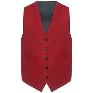 "Cotton Moleskin Traditional Waistcoat BRITISH MADE sizes 36 - 52"" Finest Quality"
