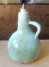 Pied lampe poterie terre cuite émaillé vert