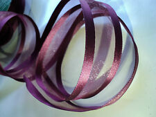 ✨❤️ Wire Edged Sheer BURGUNDY WINE  Ribbon Cakes, Bows, Decorations, ❤️ ✨