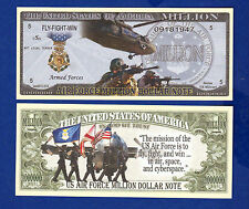 1-U.S Air force Dollar Bill- with clear protector sleeve Novelty -Money-Item c
