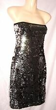 FUNKYFISH SIZE L BLACK X SILVER SEQUIN LONG TOP/SHORT DRESS WORN ONCE WOW!!