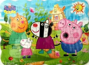 New 40 Pieces Peppa Pig Party Time Jigsaw Puzzle Best Gifts Toys for Kids