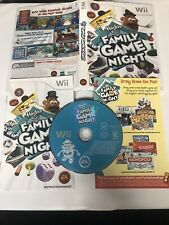 Hasbro Family Game Night (Nintendo Wii, 2008) - TESTED & CLEAN & COMPLETE!