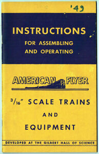 ORIGINAL 1949 AMERICAN FLYER INSTRUCTION BOOK M2690 - EXC CONDITION!