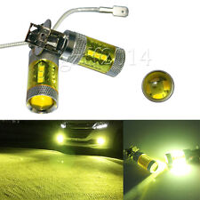 2pcs H3 Yellow High Power 80W 16 SMD LED Car Foglight Light Bulb 12-24V New