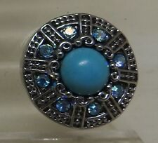 Celtic pattern 2 with Turquoise centre stone Noosa Style Snap Button