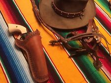 """Handcrafted Western Gun Holster (.45) 5 1/2"""" Classic Cowboy Right Hand BS SH 451"""