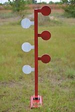 """AR500 dueling tree Kit (Do It Yourself) 3/8"""" X 6"""" paddles with base"""
