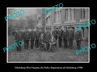 OLD LARGE HISTORIC PHOTO OF CLARKSBURG WEST VIRGINIA THE POLICE DEPARTMENT 1900