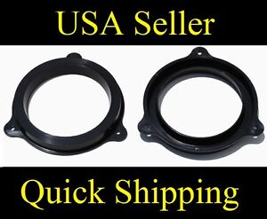"6.5"" Aftermarket Speaker Adapter Plates Mount Kit Brackets Fits Nissan Infiniti"