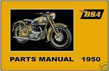 BSA Parts Manual A10 A7 B31 B32 B33 B34 D1 C10 M20 M21 & M33 1950 Spares Catalog