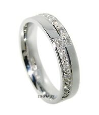 WOMENS 14K WHITE GOLD DIAMOND WEDDING BAND LADIES ANNIVERSARY RING