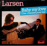 ++LARSEN baby my love/smurf a mary lou SP 1984 PROMO POLYDOR EX++