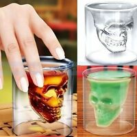 New Crystal Glass Vodka Whiskey Skull Head Shot Cup Drinking Ware Home Bar beer