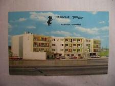 Vintage Photo Postcard Nashville Travel Lodge With Street Cars Tennessee Unused
