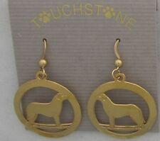 Anatolian Shepherd Jewelry Gold Dangle Earrings by Touchstone Dog Designs
