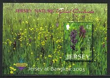 Jersey 2003 Local Wild Orchids ovpt ss--Attractive Flower Topical (1084a) MNH